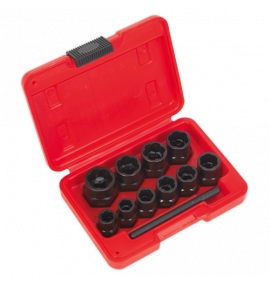 "Bolt Extractor Set 11pc 3/8""Sq Drive or Spanner"