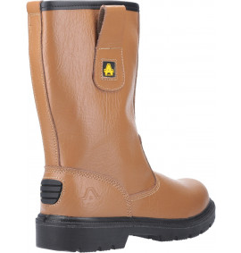 Amblers Tan Rigger Boot, Steel Midsole, Warm Lined