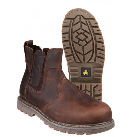Amblers Crazy Horse Leather Welted Dealer Boot (Brown)