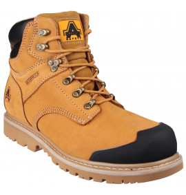 Amblers Honey Nubuck Welted Boot with Padded Top and Bump Cap