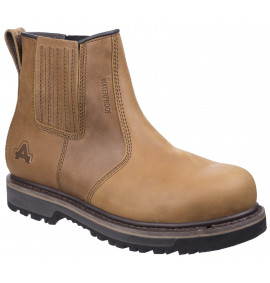 Amblers Waterproof Tan Goodyear Welted Dealer Boot