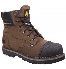 Amblers Waterproof Brown Scuff Cap Goodyear Welted 6 inch Lace-up Boot
