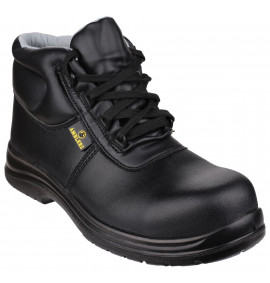 Amblers Black ESD Lace Up Boot