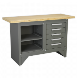 Workbench with 5 Drawers Ball Bearing Slides Heavy-Duty