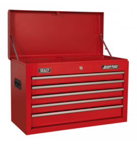 5 Drawer Topchest with Ball-Bearing Slides - Red