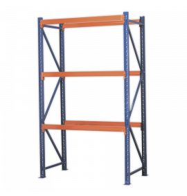 Heavy-Duty Shelving Unit with 3 Beam Sets