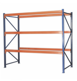 Heavy-Duty Racking Unit with 3 Beam Sets