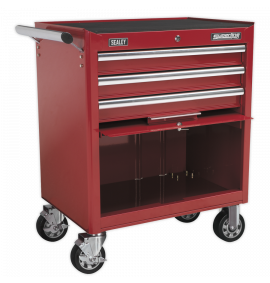 Rollcab 3 Drawer with Ball Bearing Slides