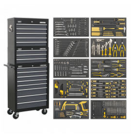Tool Chest Combination 16 Drawer with Ball Bearing Slides