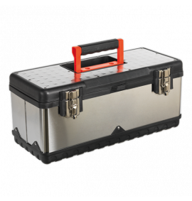 Stainless Steel Toolbox 505mm with Tote Tray
