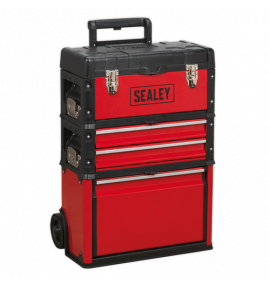 3 Compartment Mobile Steel/Composite Toolbox