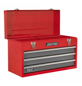 Tool Chest 3 Drawer Portable with Ball Bearing Slides