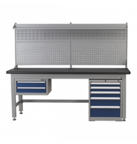 2.1m Complete Industrial Workstation & Cabinet Combo