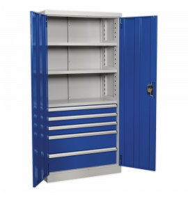 Industrial Cabinet 5 Drawer 3 Shelf 1800mm