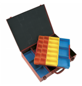 Metal Case 2 Layer with 27 Storage Bins