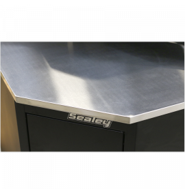 Stainless Steel Corner Worktop 930mm