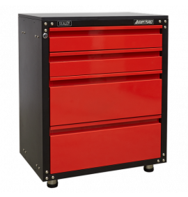 665mm Modular 4 Drawer Cabinet with Worktop