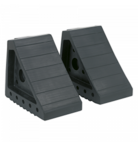 Rubber Wheel Chocks 1.8kg - Pair