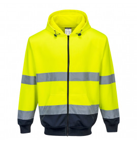 Portwest Two-Tone Zip Front Hoodie