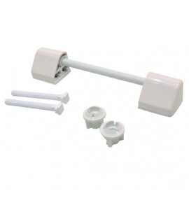 White Plastic Toilet Seat Hinges