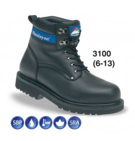 Himalayan Black Full Grain Leather Safety Boot