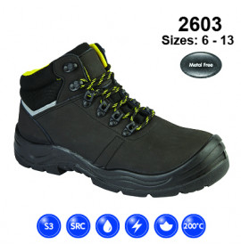 Dr Martens Black Safety Hiker Boot