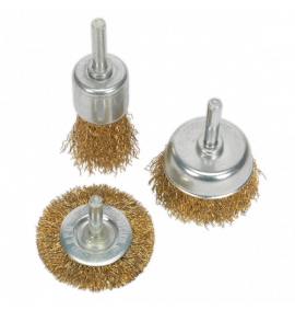 Wire Brush Set 3pc Brassed (10 Sets)