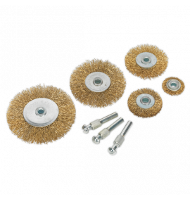 Wire Brush Set 8pc Brassed (10 Sets)