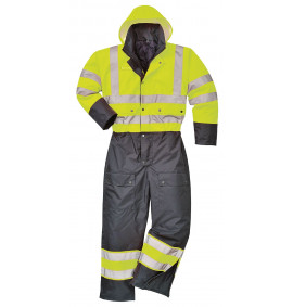 Portwest Hi-Vis Contrast Coverall - Lined