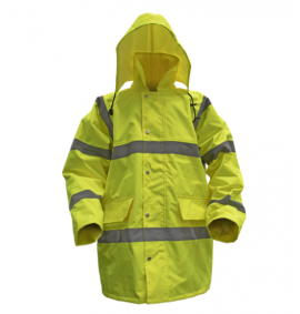 Sealey Hi-Vis Motorway Jacket with Quilted Lining