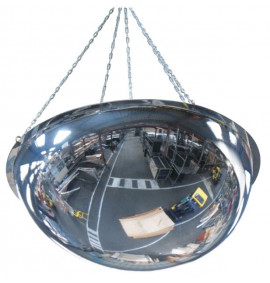 Half-Sphere 360 Degree Industrial Dome Mirrors for Ceiling Mounting