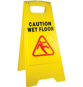 Caution Wet Floor Safety Sign - A-Frame - Yellow