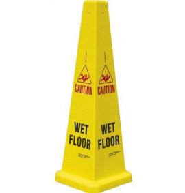 35 Collector Cone Wet Floor Yellow