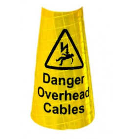 1M Yellow Sleeve Danger Overhead Cables