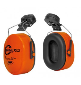 InterEXV Helmet Mounted Ear Defender Orange