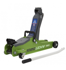 Sealey 2tonne Low Entry Short Chassis Trolley Jack - Hi-Vis Green
