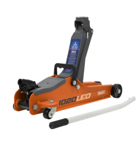 Sealey 2tonne Low Entry Short Chassis Trolley Jack - Orange