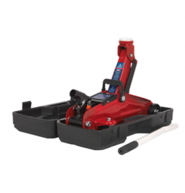 Sealey 2tonne Short Chassis Trolley Jack with Storage Case