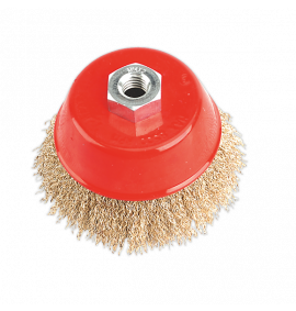 Brassed Steel Cup Brush Ø100mm (M14 x 2mm)
