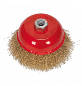 Brassed Steel Cup Brush Ø125mm (M14 x 2mm)