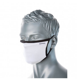 Portwest 3-Ply Fabric Face Mask (Pk25)