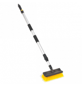 Large Angled Flo-Thru Brush with 1.7m Telescopic Handle