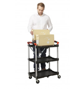 Folding Trolley With Polypropylene Shelves & Aliminium Frame