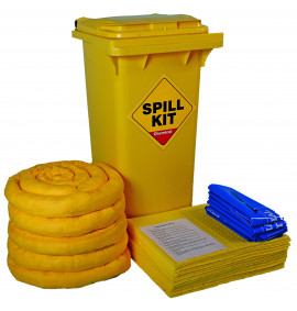 120 Litre Chemical Kit - Yellow Wheelie Bin
