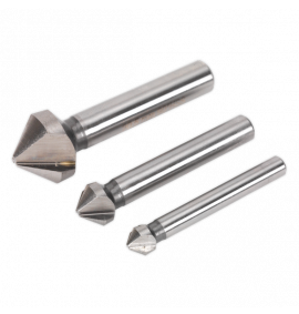 Countersink Bit Set 3pc HSS M2 - 3 x V Flutes