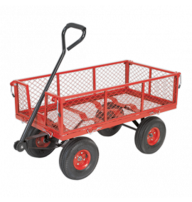 Platform Truck with Removable Sides Pneumatic Tyres 200kg Capacity