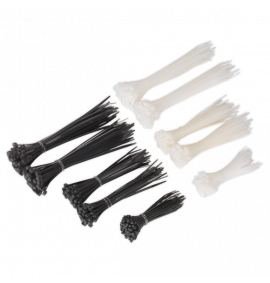 Cable Tie Assortment Black/White Pack of 3000