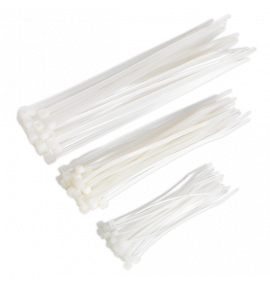 Cable Tie Assortment White Pack of 750