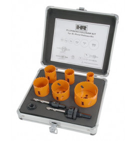9 Piece Plumbers Hole Saw Kit