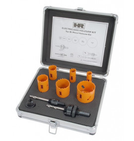 9 Piece Electricians Hole Saw Kit